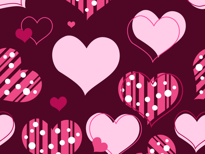 Valentine Hearth Pattern symbol icon pink red background love seamless patter hearth