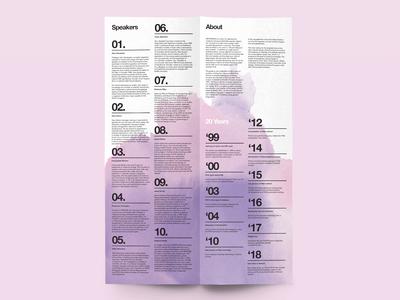 Watercolor – Program Brochure Design
