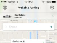 Car renting app concept