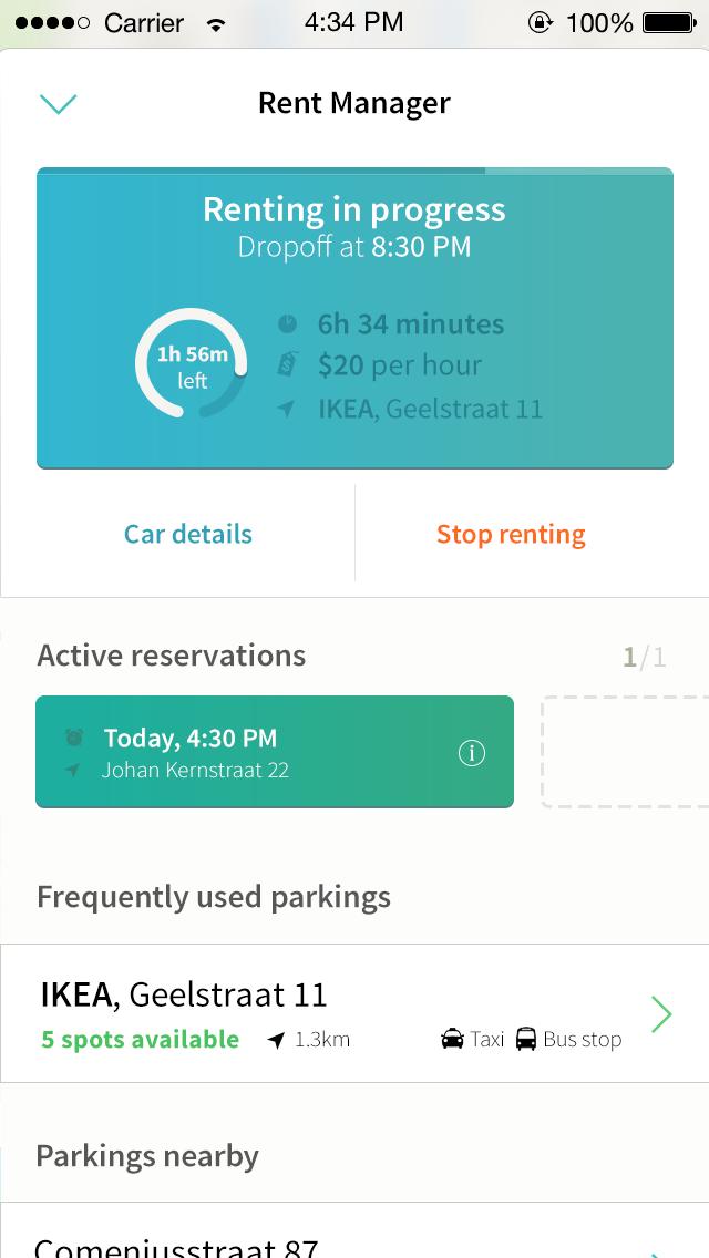 Car renting app concept 2