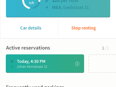 Car Renting App Concept 10clouds ios concept car renting transition interaction ui ux