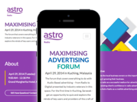 Maximising Advertising Forum