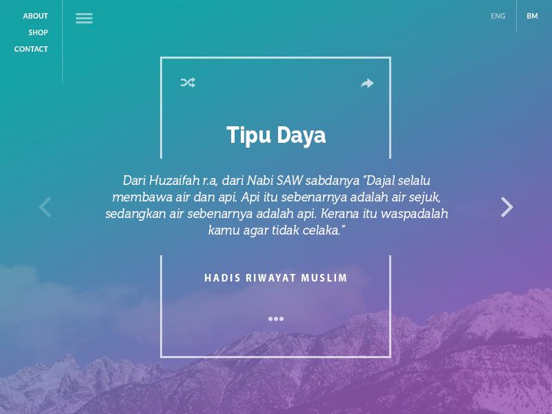Hadith Web App malaysia app ui ux hadith islam guidance sunnah prophet muhammad muslim