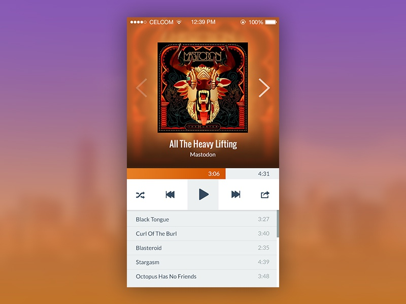 My Music App malaysia app ui ux iphone mobile apple ios music player mastodon