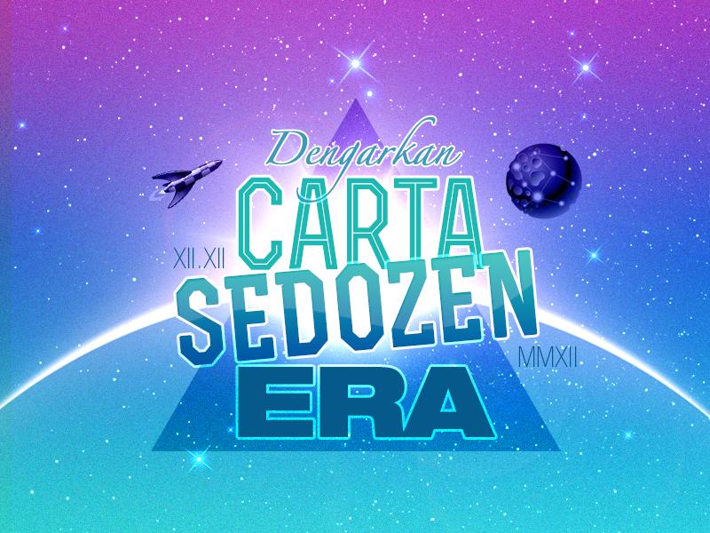 Carta Sedozen ERA music charts astro radio era fm galaxy space logo masthead 121212 astro malaysia