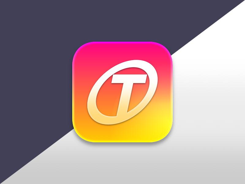 OT App Icon app icon skeuomorphism logo mobile apple icon sketch malaysia