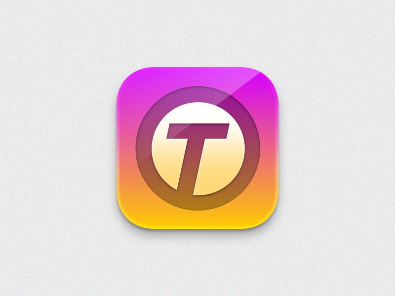 OT App Icon 2 app icon skeuomorphism logo mobile apple icon sketch malaysia