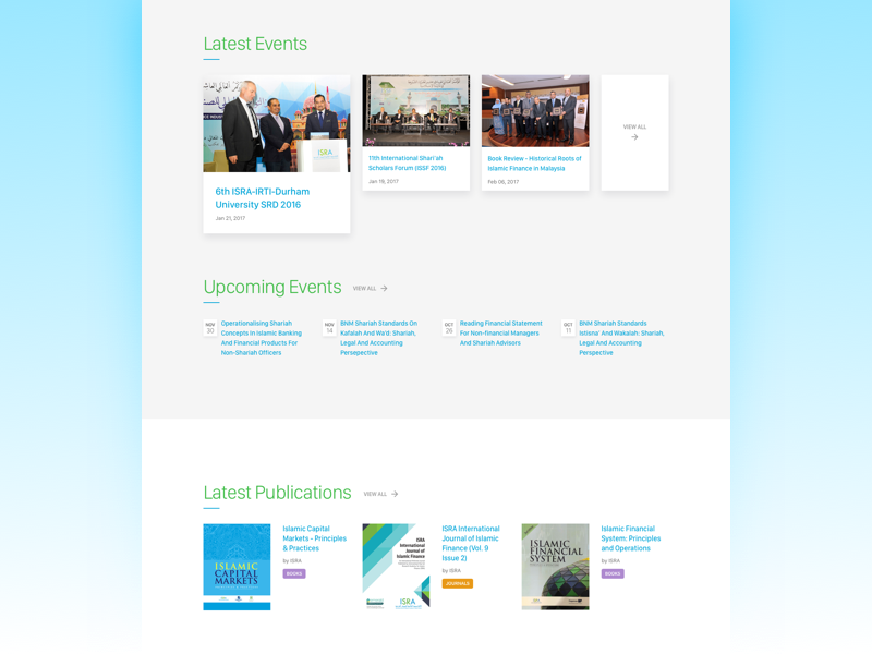 ISRA Redesign landing page islamic finance web design mockup sketch academy isra web redesign malaysia