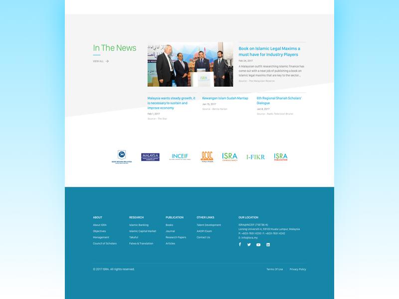 ISRA Redesign landing page islamic finance web design mockup sketch academy isra web redesign malaysia