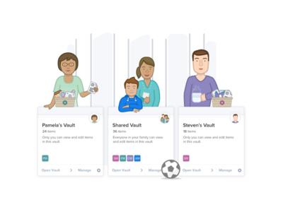 Familes Ilustration - 1Password