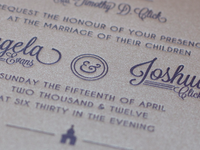 Wedding Invite Printed