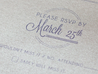 Wedding Invite RSVP printed