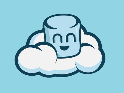 Happy Mallows graphics design logo character happy cloud confectionary color colour marshmallow sweet