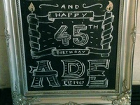 First chalk typography