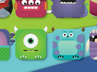 Monsters Inc iPhone4 wallpaper