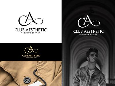 Club Aesthetic Logo aesthetic trend modernlogo minimal apparel branding logo menfashion fashion