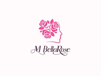 MBellaRose logo beauty sleek modern spa logobrand boutique femininelogo feminine logo