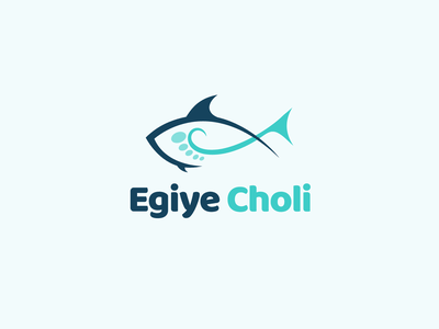 Egiye Choli Logo fishfeed minimal fishery branding nutrition fish fishlogo logo