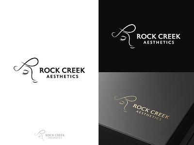 Rock Creek Aesthetics Logo minimal spa treatment femininelogo cosmetic branding beauty boutiquelogo logo aesthetic