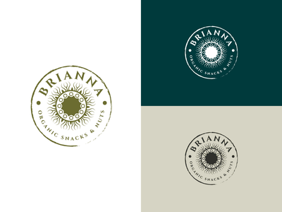 Brianna Logo design food snacks organic brand branding logodesign logo