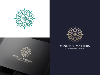 Mindful Matters Counseling Group peaceful hope healing mentalhealth therapy logodesign vector aesthetic design minimal branding brand mind counseling logo meditation