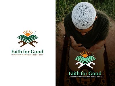 Faith for Good logo illustration logodesign vector aesthetic design brand branding logo socialgood prayer social