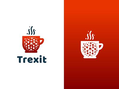Trexit Logo security brand minimal logodesign design branding logo data technology tech