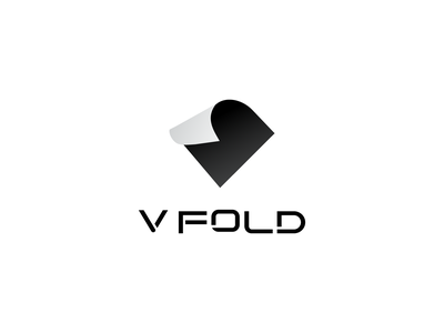 VFold logo cutting edge sleek black logo modern clean aesthetic logo branding brand vector logodesign minimal negative space