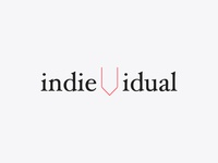 indievidual logo lettering