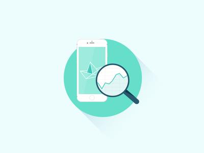 Mobile App Analytics app illustration flat mobile analytics liquid