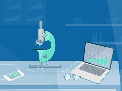 360º Analytics liquid illustration analytics app mobile