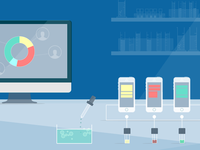 Segmentation illustration segment liquid app mobile