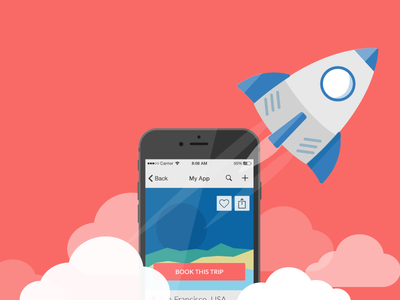 Boost your mobile app boost app illustration flat mobile personalization liquid