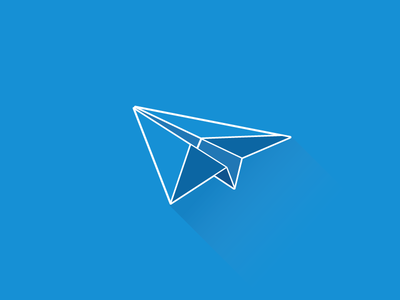Airplane origami illustration color airplane blue origami flat