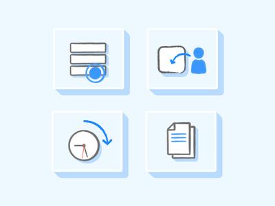 User insights illustration time clock sheets blue user mobile liquid app illustration
