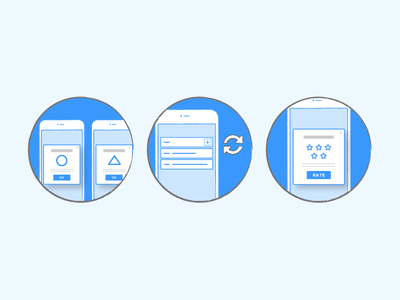 Development tools illustration blue developers development experiences rate mobile liquid app illustration