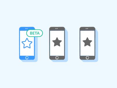 Beta testing illustration blue development developers testing beta mobile liquid app illustration