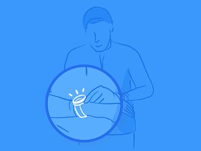 Liquid 2.0 illustrations timing automation marketing growth white blue app mobile illustration liquid