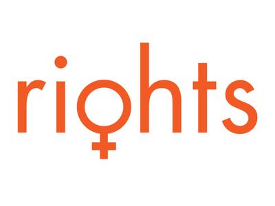 Ri♀hts womensrights orange rights wordplay futura women