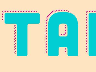Logo through Code css codepen html tropical stripes shadow code