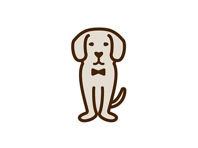 beagle #1 bowtie beagle beige dog thick lines