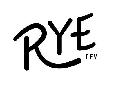 Rye Dev #2 (goofier) rye logo dev lettering