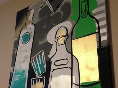 Spirits - Painting painting canvas illustration acrylic spray paint patron jameson ciroc