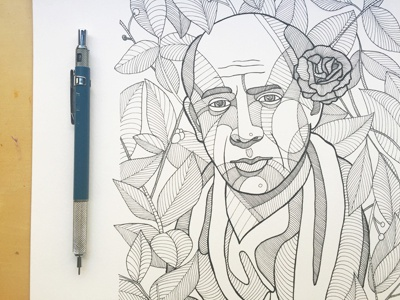 Pablo Picasso Ink Drawing By Doncarlos Dribbble Dribbble