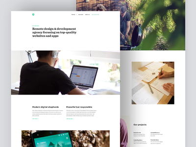About Us Page projects people portfolio minimal white about remote agency ui webdesign website web