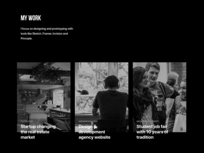 My work section | New portfolio