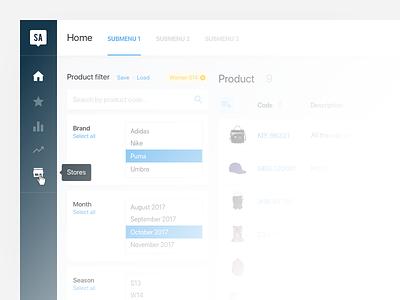 Dashboard sneak peek 🕵️ admin search icons menu panel table list app web filter ui dashboard