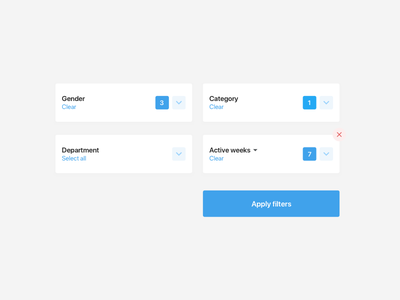 Dashboard UI elements #2 dashboard ui form filter select search tags delete list card box app