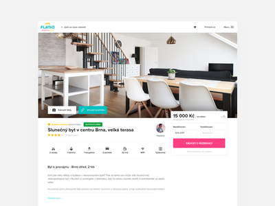 Offer detail on Flatio [WIP] screen page product photo feature detail flat listing offer web ui