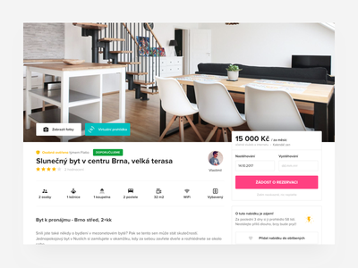 Offer detail listing on Flatio WIP #2 form page product photo feature detail flat listing offer web ui
